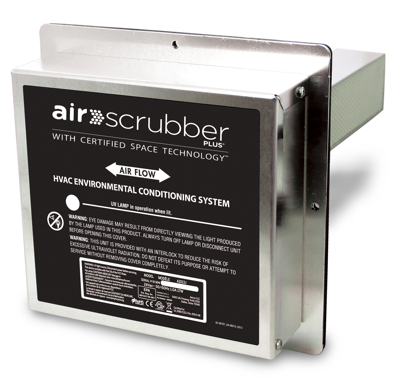 Air Scrubber plus heating cooling product